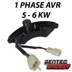 1 fase AVR, 230V, 5 - 6 kVA