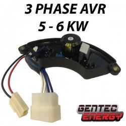 3-phase AVR 400V / 230V, 5 - 6 kVA